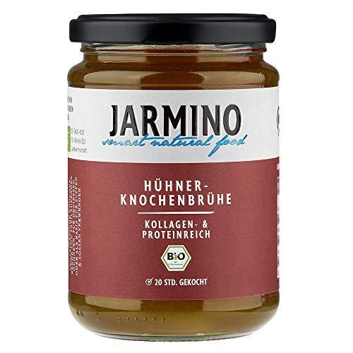 JARMINO Knochenbrühe (4x) | 100% Bio Huhn | Reich an Collagen | Paleo & Ketogene Diät geeignet | Natürliche Alternative zu Kollagen Trinkampullen