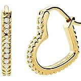 Michael Kors Ohrringe MKC1336AN710 Damen Creolen Silber 925 Gold weiß Zirkonia