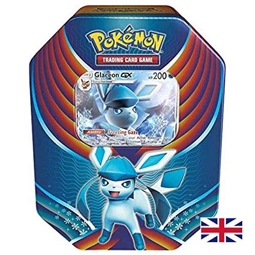 Lively Moments Pokemon Karten Evolution Celebration Tin Box Sun & Moon - Glaceon-GX (Glaziola-GX) EN