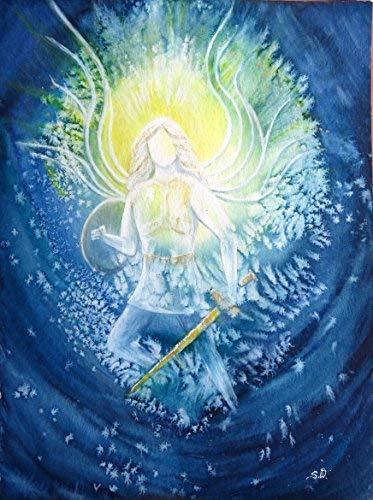 silwi-art***** Engelbilder Erzengel Michael beschützt Dich Schutzengel Engelkarte XL/Wanddeko Stabiler Fotoprint liebevolle Geschenkidee