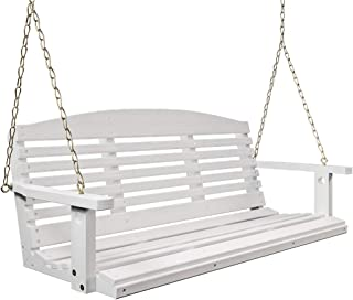 Porchgate Amish Made Classic White Porch Swing (4 Foot)