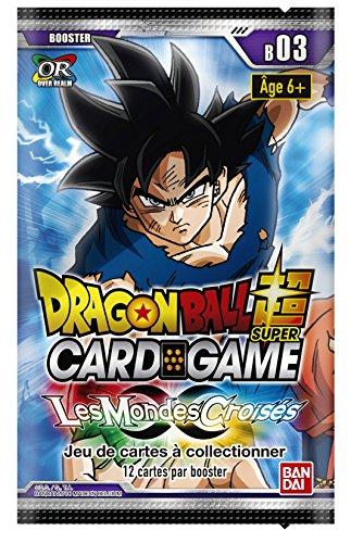Dragon Ball Super Card Game - Booster de 12 Cartes Serie 3 : Les Mondes Croisés - Version Francaise