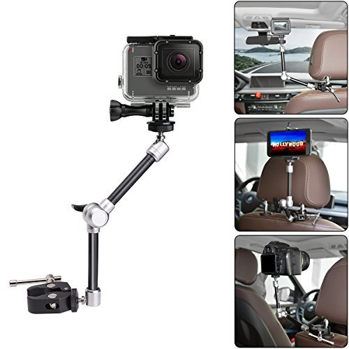 """11"""" Adjustable Robust Articulating Friction Magic Arm , DSLR / Mirrorless / Action Camera / Camcorder / Smartphone / LCD Monitor Video Vlog Rig w/ Clamp Holder Mounts Kit fit for GoPro iPhone Arlo etc"""