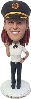 Comandante di aeromobili Completamente progettato per il cliente Figurina di argilla a forma di bobble basata sulle foto d...