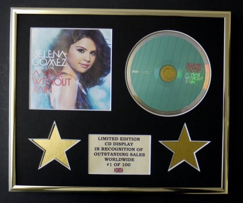 Selena Gomez /& The Scene//CD Display//Limited Edition//COA//A Year Out Pain