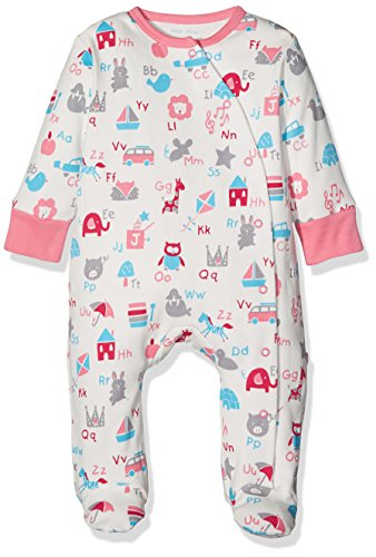 Kite Kite Baby Mädchen ABC Sleepsuit Schlafstrampler, Rose, 56