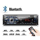 Kdely Autoradio Bluetooth Main Libre 1-Din 4×60W Radio de Voiture Stéréo avec...