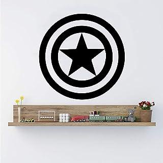 América capitán escudo vinilo etiqueta de la pared Marvel Comics casa auto adhesivo removible Arte Decoracion Decoracion de dormitorio de niños casa