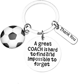 Sportybella Soccer Coach Keychain- Soccer Coach Gifts- Soccer Great Coach is Hard to Find Jewelry - Perfect Soccer Coach Gifts
