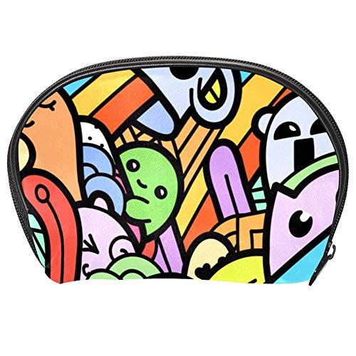 TIZORAX Regenbogen-Eisbecher Kosmetiktasche Reise-Organizer Tasche Make-up-Tasche Geldbörse für Frauen Mädchen