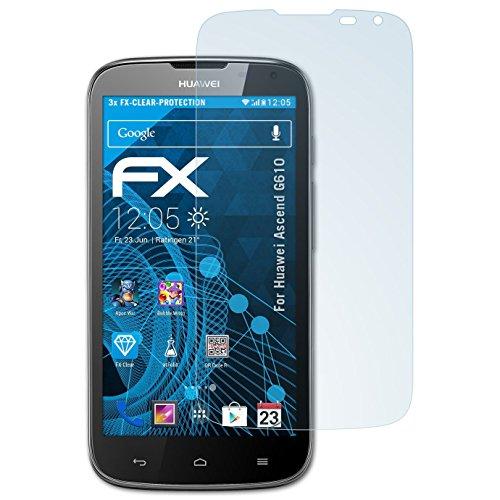 atFolix Schutzfolie kompatibel mit Huawei Ascend G610 Folie, ultraklare FX Bildschirmschutzfolie (3X)