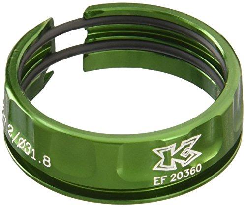3er Set KCNC Sattelstützen Ring Rutsch Schutz 30,9/34,9 mm - Grün Aluminium