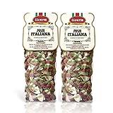 Livera Farfalle Italia 2 X 500 Gr, Pasta Cortas de Sémola de Trigo Duro 100% Made in Italy, Pasta...
