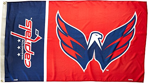 Fremont Die NHL Washington Capitals 3#039 x 5#039 Flag with Grommets 3 x 5Foot Logo