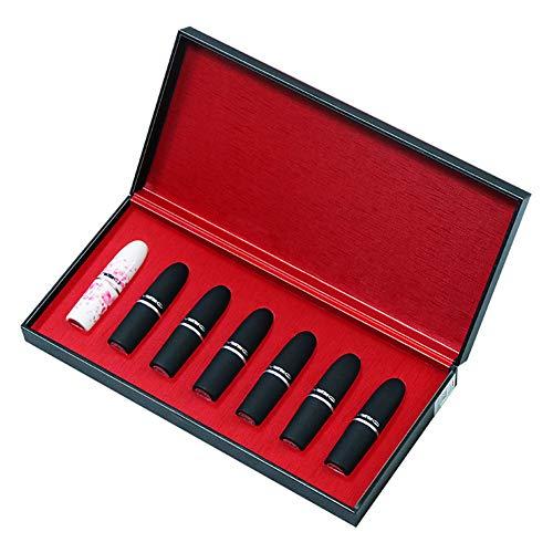 FSGD 7 Colores Conjunto de Pintalabios Brillante cosmético para Maquillaje de Labios para Moda de Mujeres