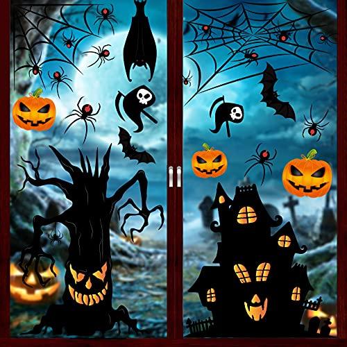 Halloween Autocollants Fenêtre, 157 Autocollants de Fenêtre