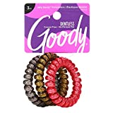 Goody TrendPonytailersElastic Thick Hair Coils - 3 Count,Glitter -Assorted - Medium Hair to Thick Hair - Hair Accessories for Women and Girls - Perfect for Long Lasting Braids, Ponytails and More