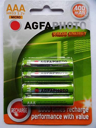 AGFA AAA wiederaufladbare Batterien (400 mAh)