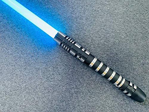 Sable de luz, que cambian de color granos de la lámpara 9W LDE versión de 16 colores uniformemente tenue luz 3 juegos de efectos de sonido y función de silenciamiento el sable de luz de juguete