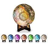 Luna Luz Galaxy Globe Quran Cube Altavoz Reproductor inalámbrico Bluetooth Touch lámpara musulmán regalo niños