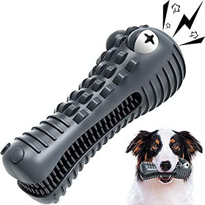 Wisedom Dog Chew Toys, Indestructible Tough Durable Dog Toothbrush Toys for Aggressive Chewers Large Breed Dental Care Teeth Cleaning