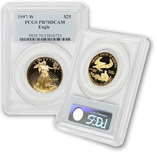 1997 W 1/2 oz Proof Gold American Eagle PR-70 PCGS by CoinFolio $25 PR-70 PCGS