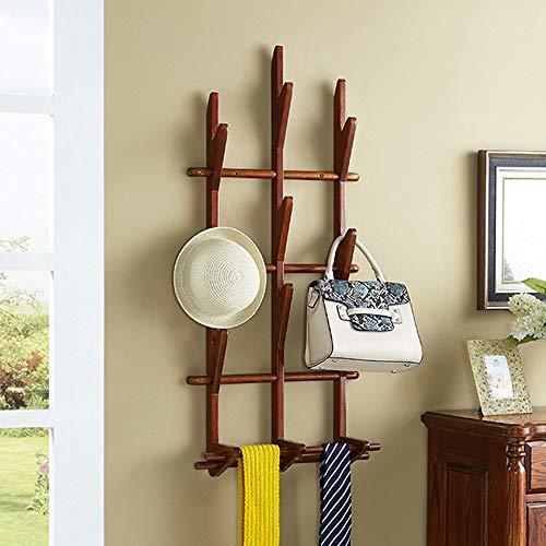 Jas en hoed rek-Amerikaanse stijl Poplar ruimtebesparende huishoudelijke muur kapstok kledingrek vrijstaande