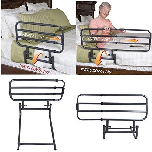 Bed Rail for Elderly Safety Strap Guard Hand Rails Adult Folding Gate Adjustable
