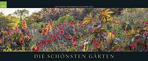 GEO SAISON: Die schönsten Gärten 2021 - Panaorama-Kalender - Wand-Kalender - Groß-Formate - 120x50