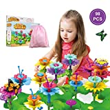 Girls Toys Flower Garden Building Toys for 3 4 5 6 Years Old Girls and Boys Toddlers Kids Gifts for 3+ Years Old Birthday Christmas Building Block Toys for Indoor &Outdoor Education Stem Toys-98PCS