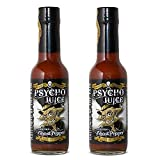 Psycho Juice extrema Ghost Pepper salsa picante (Pack de 2)