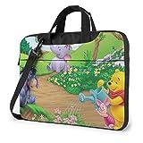 XCNGG Garden of Winnie The Pooh Maletín para portátil de Negocios para Hombres y Mujeres, Bandolera de Hombro, Funda para portátil, Bolsa de Transporte de 15,6 Pulgadas