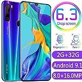 fgjhfghfjghj Für P35 Pro-Handy 6,3-Zoll-Wassertropfen-Bildschirm Fingerabdruck 2G + 32G-Handy 3G-Smartphone