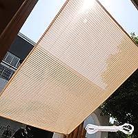 ZXC シェード 日除け セイル サンシェード UVカット 紫外線95%カット 軽量 撥水 耐久性 洗濯可能 ベランダ/廊下/庭下/庭先用 収納袋付き(カラー:木の色)(Size:0.9*5m)