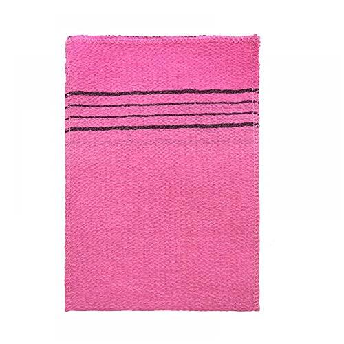 WEDFGX 1/4 Stück Doppelseitiges Handtuch Koreanisches Peeling Bad Waschlappen Körperpeeling Duschtuch Tragbar Für Erwachsene Grobkörniges Handtuch