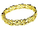 10kt Solid Yellow Gold Handmade Fashion Nugget Bracelet 11 mm 31 grams 9.25 inches
