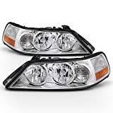 ACANII - For 2005-2011 Lincoln Town Car Headlights Headlamps Replacement 05-11 Set Driver + Passenger Side