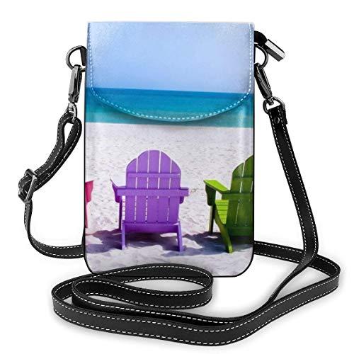 Sillas coloridas libre playa moda pequeño teléfono celular monedero multiusos bolso de hombro cartera