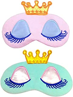 LIOOBO 2pcs Sleeping Mask Cute Frog Plush Eye Mask Blindfold Eye Cover for for Women Men Kids Home Bed Traveling Flight Car Camping Office