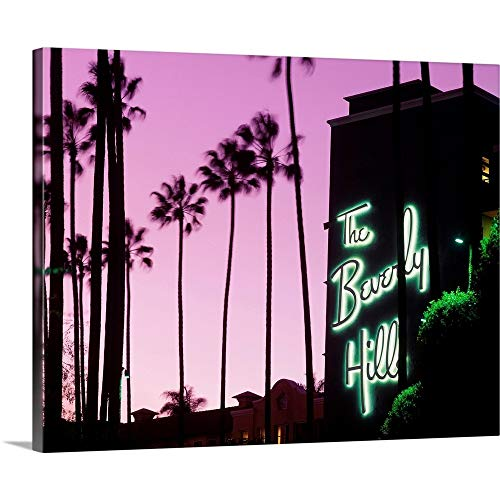 United States, California, Los Angeles, Beverly Hills Hotel Canvas Wall Art Print, 30'x24'x1.25'