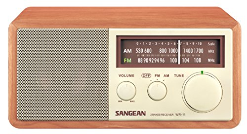 Our #2 Pick is the Sangean WR-11 Wood Cabinet Tabletop Radio