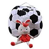 ParaCity Creative World Cup Kids Stuffed Animal Seats Plush Toy Organizer Bean Bag Chair Storage Solutions Double Zipper (Football, 26'')