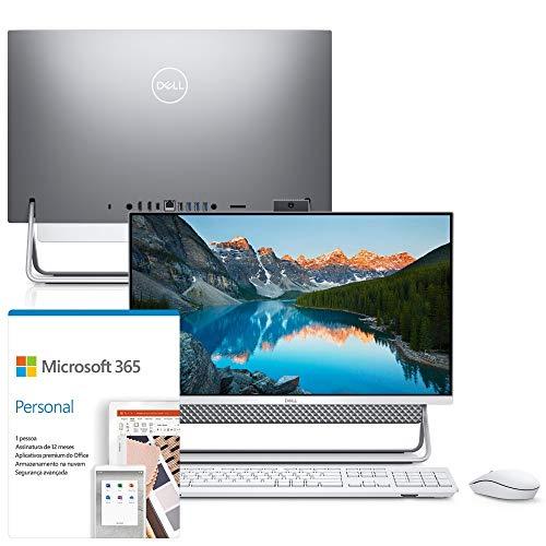 "Kit Computador All in One Dell Inspiron 5400-OS20F 23.8"" FHD 11ª G Intel Core i7 8GB 256GB SSD Windows 10 Microsoft 365"