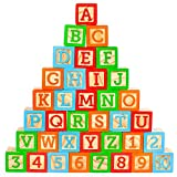 Oaktown Supply Wooden Blocks - 36 Large, Stacking and Building Blocks...