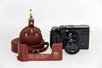 X-Pro2 Camera Case  Zakao Genuine Real Leather Half Bottom Opening Version Holster Camera Case With Shoulder Strap Mini Bag Protective Cover Bag Case for Fujifilm Fuji X-Pro2 XPro2 X-Pro  Brown