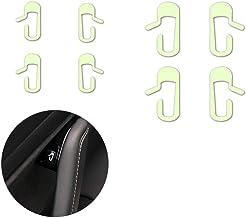 Hamkaw Tesla Model 3 Accessories Door Exit Decal Set (White/Fluorescence)