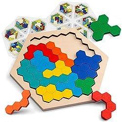 Image of Coogam Wooden Hexagon...: Bestviewsreviews