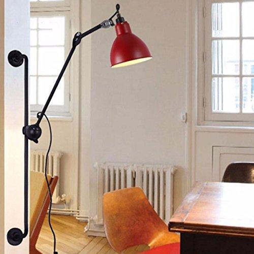 ZPSPZ Applique Murale Nordic Créatif Longue Perche Levée Mur Feu Simple Salon Salle Moderne Et Lanternes Au Chevet Des Lampes Rétro,C