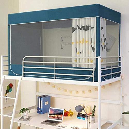 Schoolstudenten Bed Muggennet, Stapelbed Tent Gordijn Doek Slaapzaal Mid-Sleeper Bed Luifel Verspreid Blackout Gordijnen Dosquito Bescherming,0.9m*0.9m*1.9m