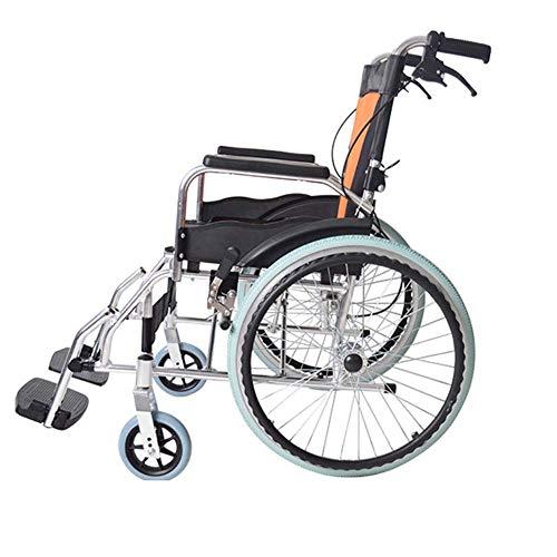 LKK-KK Hospital Trolley, Medical Supplies Rack,Lightweight Folding Aluminum Alloy Wheelchair Portable Elderly Elderly Disabled Cart Travel Driving Medical Supplies